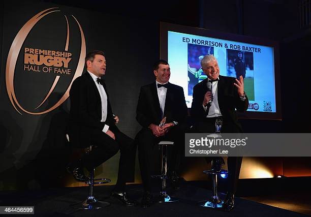 Presenter Mark DurdenSmith Rob Baxter and Ed Morrison share a joke as they do a QA after receiving their awards for being Inducted into the...