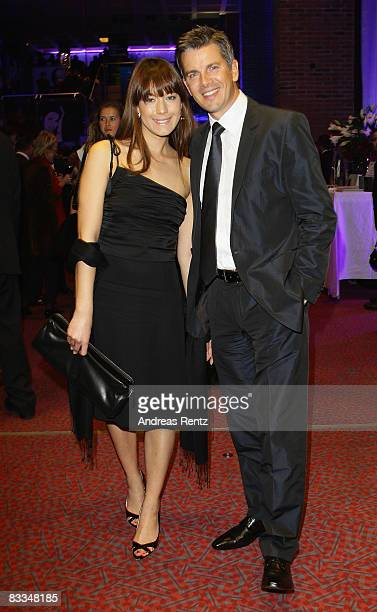Presenter Markus Lanz and his new girlfriend Angela Gessmann attend the after show party to the Echo Klassik award ceremony on October 19, 2008 in...