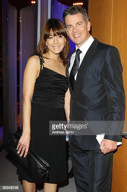 Presenter Markus Lanz and his new girlfriend Angela Gessmann attend the Echo Klassik award ceremony on October 19, 2008 in Munich, Germany.