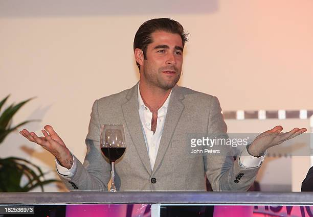 TV presenter Matt Johnson attends the Manchester United Foundation Ladies Lunch raising money for The Christie Charity and Francis House Children's...
