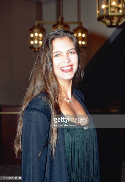 TV presenter Maxi Biewer at the UFA Filmball in Duesseldorf Germany 1991