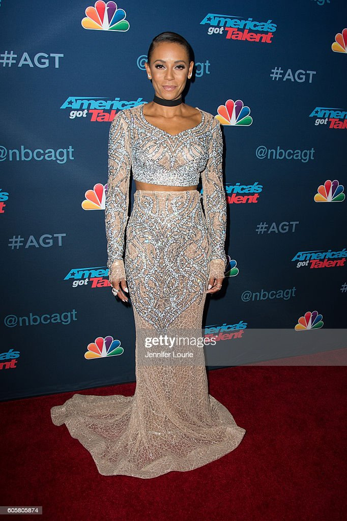 Presenter Mel B arrives at the 'America's Got Talent' Season 11 Finale Live Show at the Dolby Theatre on September 14, 2016 in Hollywood, California.