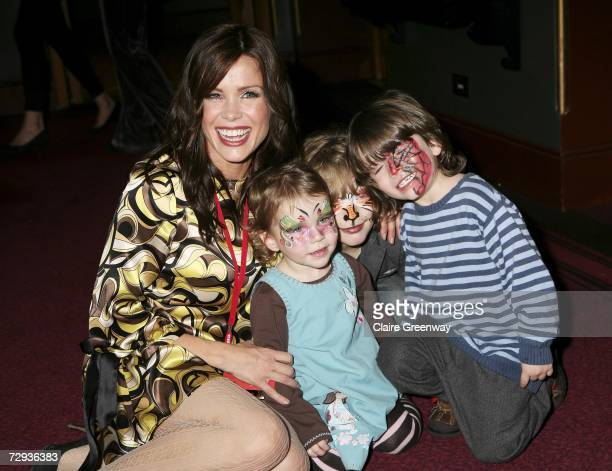 TV presenter Melinda Messenger and her guests arrive at the VIP performance of Cirque Du Soleil's 'Alegria' at Royal Albert Hall on January 5 2007 in...