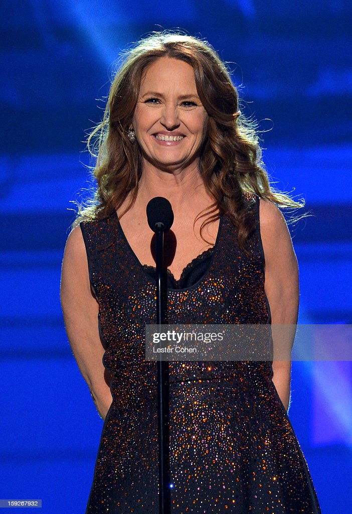 Presenter Melissa Leo speaks onstage during the 18th Annual Critics' Choice Movie Awards at The Barker Hanger on January 10, 2013 in Santa Monica, California.