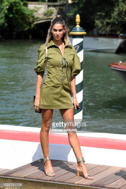 TV presenter Melissa Satta is seen during the 75th Venice Film Festival on August 30 2018 in Venice Italy