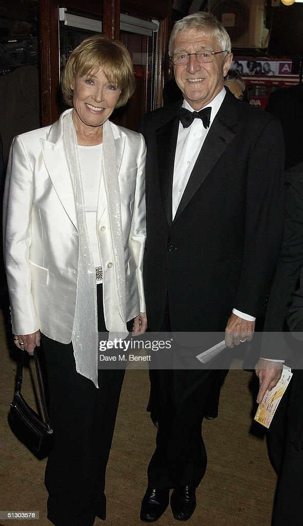TV presenter Michael Parkinson and his wife Mary attend the Royal Gala Premiere of Lord Andrew Lloyd Webber's new musical 'The Woman In White' at the Palace Theatre, Shaftesbury Avenue on September 13, 2004 in London.