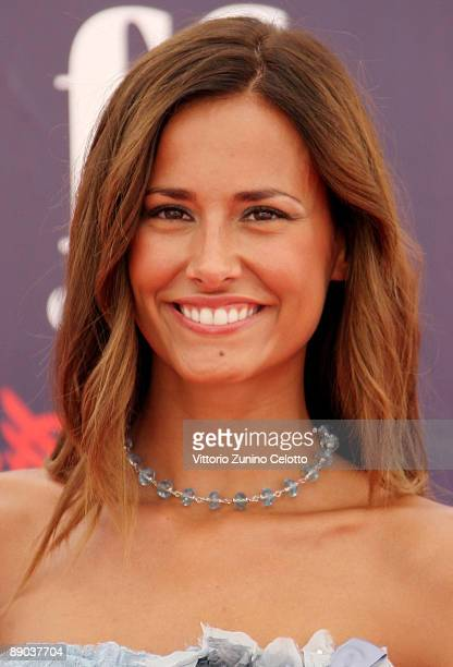 Presenter Michela Coppa attends a photocall during the 2009 Giffoni Experience on July 15 2009 in Salerno Italy