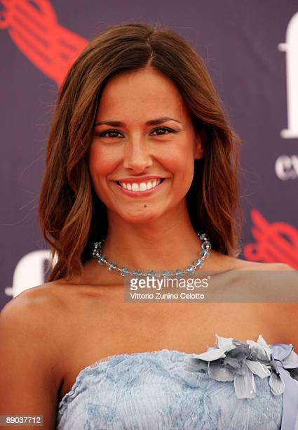 Presenter Michela Coppa attends a photocall during the 2009 Giffoni Experience on July 15, 2009 in Salerno, Italy.