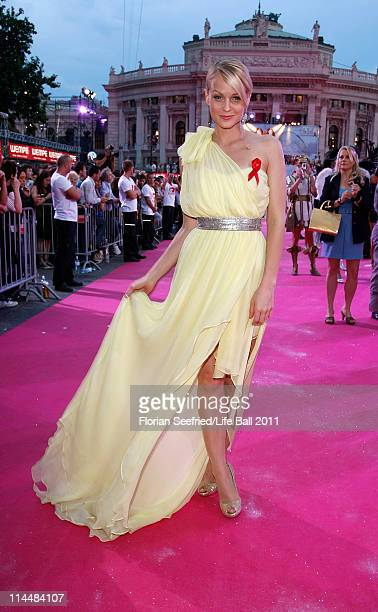 Presenter Mirjam Weichselbraun attends the 19th Life Ball at the Town Hall Town Hall on May 21 2011 in Vienna Austria