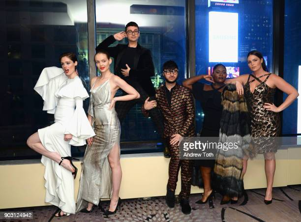 Presenter model Coco Rocha model Svea Berlie honoree fashion designer Christian Siriano singer producer Brad Walsh actress Danielle Brooks and model...