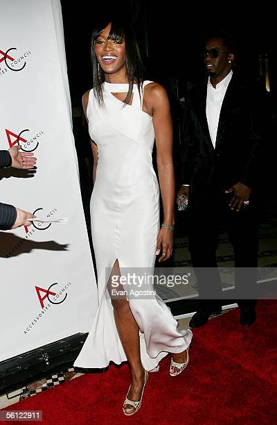 Presenter model Naomi Campbell and Sean 'Diddy' Combs attend The Accessories Council 9th Annual ACE Awards gala at Cipriani's 42nd Street November 8...