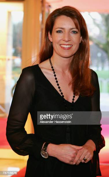 TV presenter Monica Lierhaus arrives at the Herbert Award 2006 Gala at the Elysee Hotel on March 26 2007 in Hamburg Germany