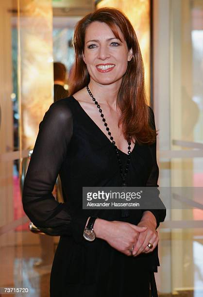 TV presenter Monica Lierhaus arrives for the Herbert Award 2006 Gala at the Elysee Hotel on March 26 2007 in Hamburg Germany