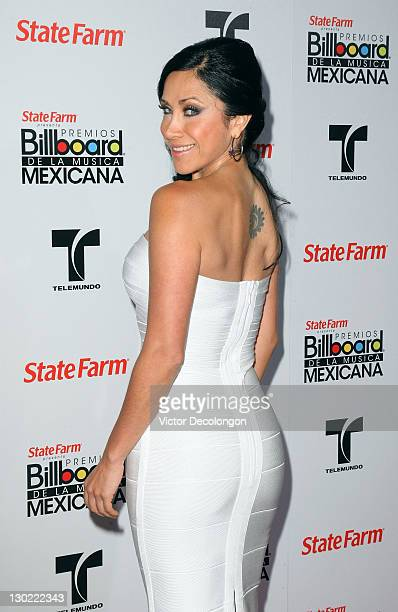 Presenter Monica Noguera arrives for the 2011 Billboard Mexican Music Awards at Orpheum Theatre on October 20 2011 in Los Angeles California