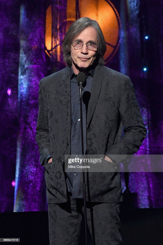 Presenter, musician Jackson Browne speaks onstage at the 32nd Annual Rock & Roll Hall Of Fame Induction Ceremony at Barclays Center on April 7, 2017 in New York City. The event will broadcast on HBO Saturday, April 29, 2017 at 8:00 pm ET/PT