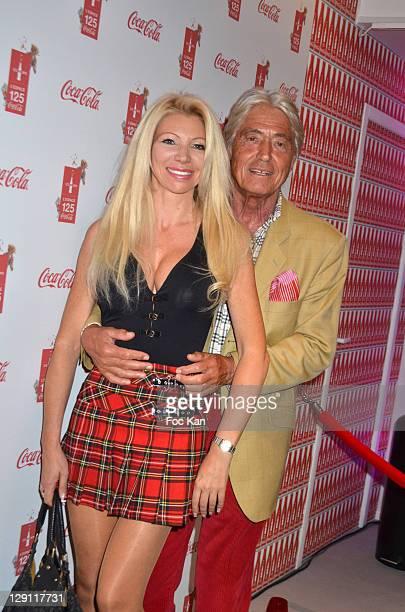 TV presenter Nadine Rodd and auctioneer Pierre Cornette de St Cyr attend the CocaCola 125th Anniversary Celebration at Espace 125 Coca Cola on April...