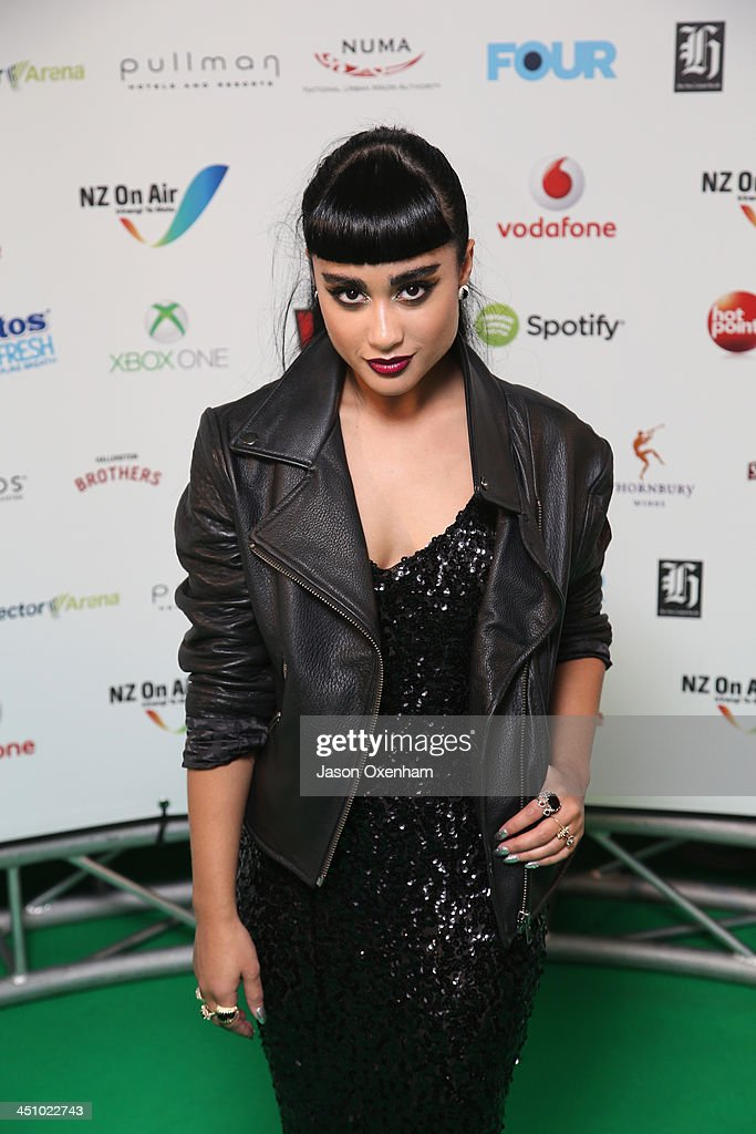 Presenter Natalia Kill poses during the New Zealand Music Awards at the Vector Arena on November 21, 2013 in Auckland, New Zealand.