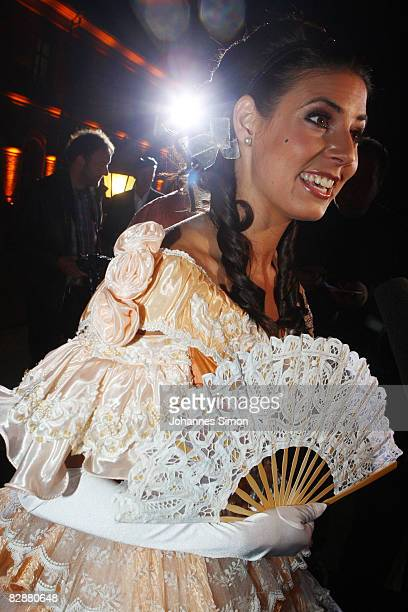 TV presenter Natascha Berg attends the 'Fabulous Celebration' at Nymphenburg Castle on September 18 2008 in Munich Germany French champagne producer...