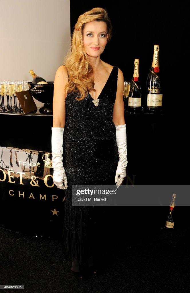 Presenter Natascha McElhone poses backstage at the Moet British Independent Film Awards 2013 at Old Billingsgate Market on December 8, 2013 in London, England.