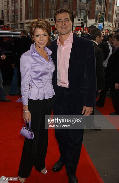 Presenter Natasha Kaplinsky and Justin Bower arrive at the Opening Night and World Premiere of Billy Elliot The Musical at the Victoria Palace...