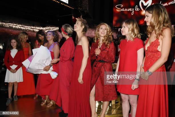 Presenter Nathalie Levy, Betty Ornette Daughter, Severine Fromont, choreographer Mia Frye, AJILA president Isabelle Weill, actress Stephanie Valton,...