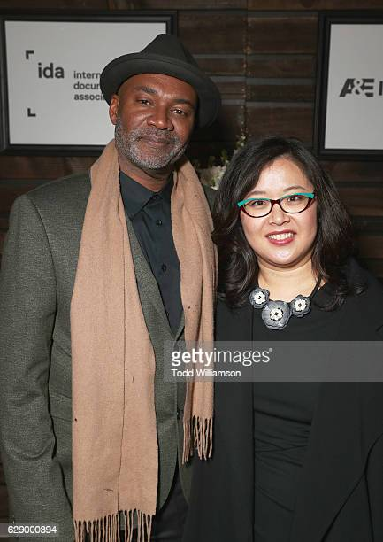 Presenter Nelson George and Kathy Im attend the 32nd Annual IDA Documentary Awards at Paramount Studios on December 9 2016 in Hollywood California