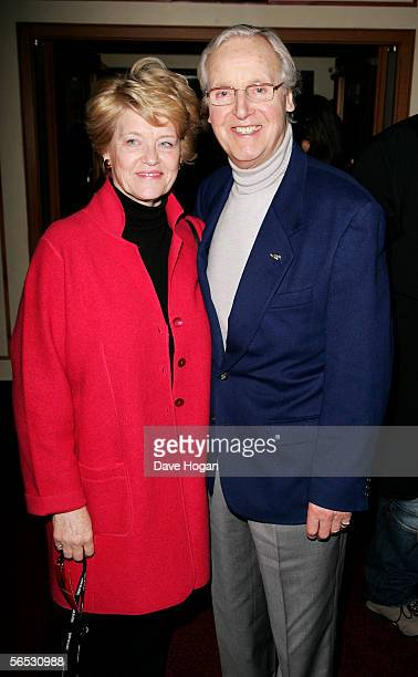 Presenter Nicholas Parsons and his wife Anne attend the interval drinks party during the new Cirque Du Soleil production Alegria at the Royal Albert...