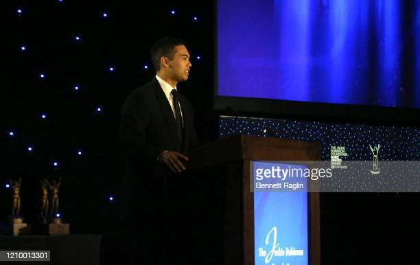 Presenter Nicholas Tabb speaks during Jackie Robinson Foundation Robie Awards Dinner at Marriot Marquis on March 02 2020 in New York City