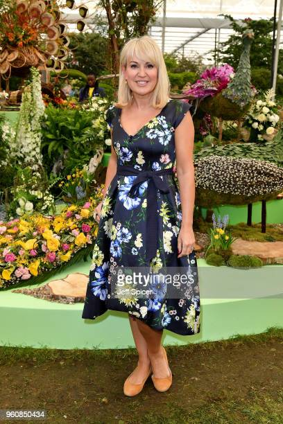 Presenter Nicki Chapman attends the Chelsea Flower Show 2018 on May 21 2018 in London England