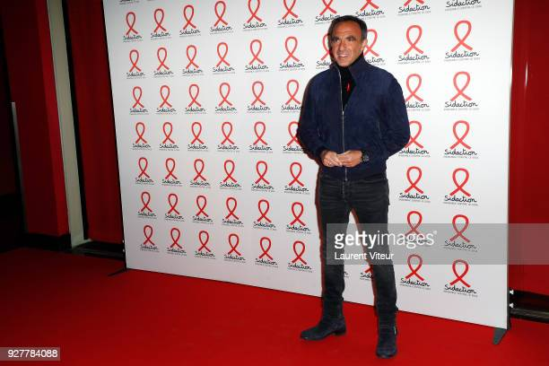 Presenter Nikos Aliagas attends 'Sidaction 2018' Launch at Musee du Quai Branly on March 5 2018 in Paris France