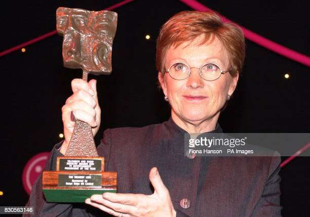 Presenter of BBC 1 quiz show The Weakest Link Anne Robinson accepts the TRIC award for the Television Entertainment Programme Of The Year at the...