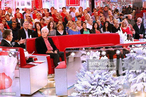 Presenter of the show Michel drucker and Main Guest of the show Guy Bedos who will make his farewell to the music hall with his show 'curtain' at...