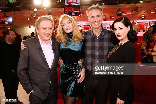 Presenter of the show Michel Drucker Arielle Dombasle Main Guest of the show Sponsor of 'Fondation Recherche Medicale' and Actor Thierry Lhermitte...
