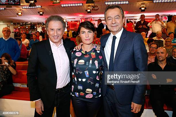 Presenter of the show Michel Drucker Journalist Alessandra Sublet who presents her TV show 'Un soir à la tour eiffel' and Chief Editor of Vanity Fair...