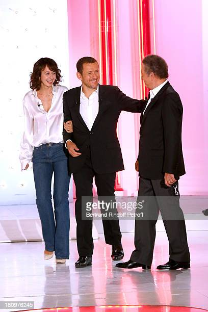 Presenter of the show Michel Drucker Main Guest of the show humorist Dany Boon and actress Valerie Bonneton attend 'Vivement Dimanche' French TV Show...