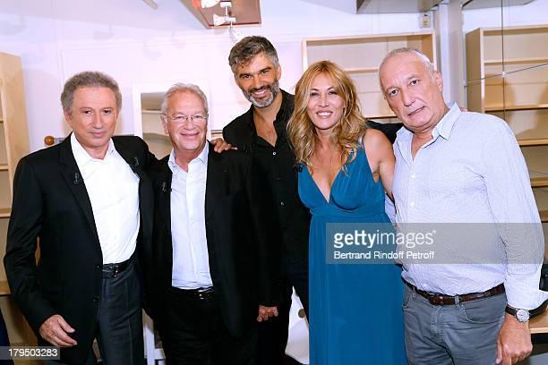 Presenter of the show Michel Drucker Team of drama Nina Director Bernard Murat with actors Francois Vincentelli Mathilde Seigner and main guest of...