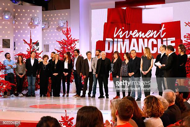 Presenter of the Show presents Actors of France Television's TV Series during the 'Vivement Dimanche' French TV Show at Pavillon Gabriel on December...