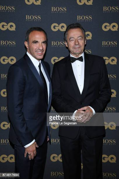 Presenter of the year Nikos Aliagas and Michel Denisot attend GQ Men Of The Year Awards 2017 at Le Trianon on November 15 2017 in Paris France