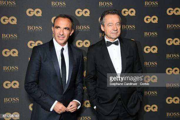 Presenter of the year Nikos Aliagas and Michel Denisot attend the GQ Men Of The Year Awards 2017 at Le Trianon on November 15 2017 in Paris France