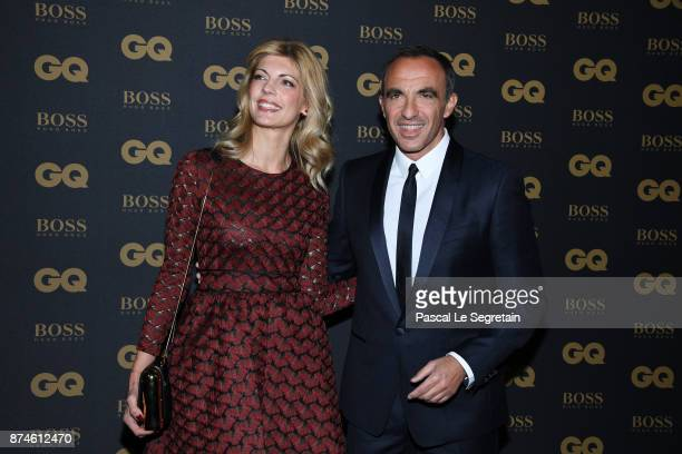 Presenter of the year Nikos Aliagas and Tina Grigoriou attend GQ Men Of The Year Awards 2017 at Le Trianon on November 15 2017 in Paris France