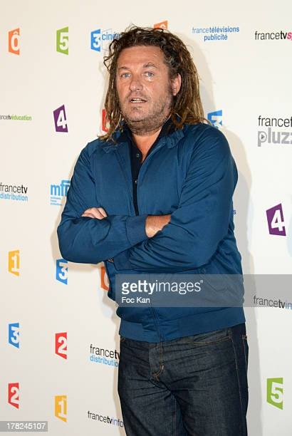 TV presenter Olivier Delacroix attends the 'Rentree France Televisions' photocall at Palais de Tokyo on August 27 2013 in Paris France