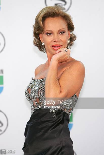 Presenter Paloma San Basilio poses in the press room at the 7th Annual Latin Grammy Awards at Madison Square Garden November 2 2006 in New York City