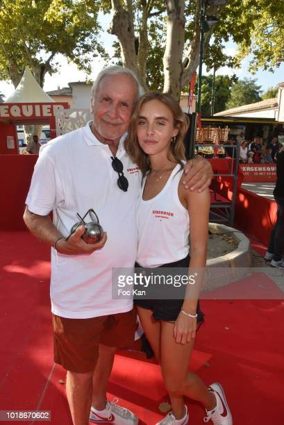 TV presenter Patrice Laffont and his daughter actress Mathilde Laffont attend the Trophee Senequier 2018 at Place des Lices SaintTropez On French...