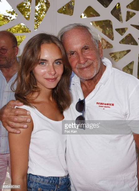 TV presenter Patrice Laffont and his daughter actress Mathilde Laffont attend the Trophee Senequier Petanque competition at Place des Lices...