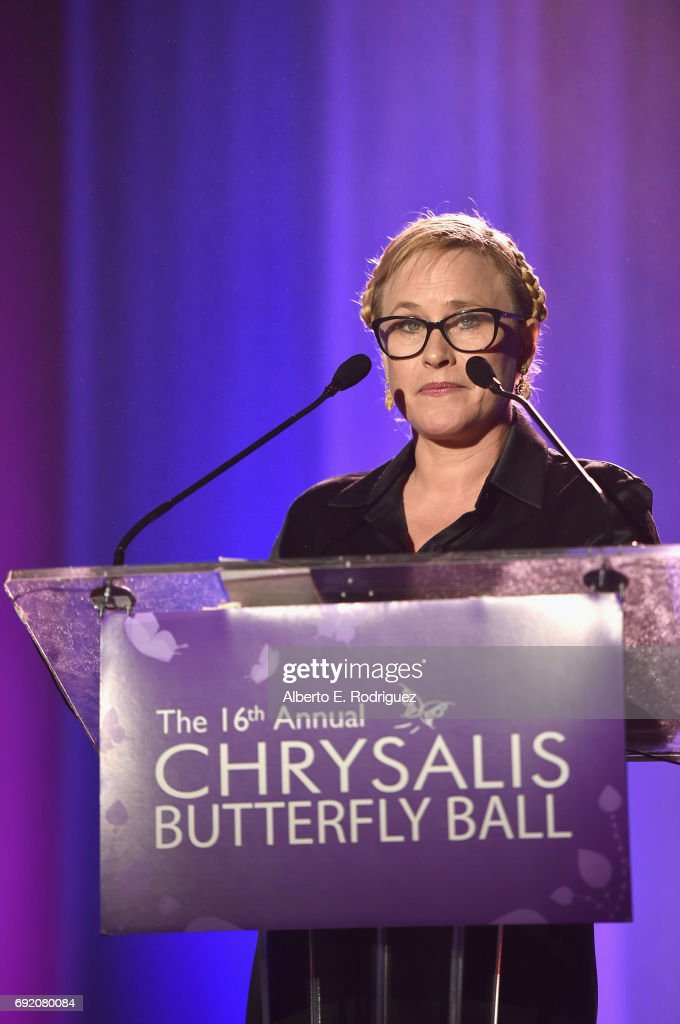 Presenter Patricia Arquette speaks onstage at the 16th Annual Chrysalis Butterfly Ball on June 3, 2017 in Los Angeles, California.