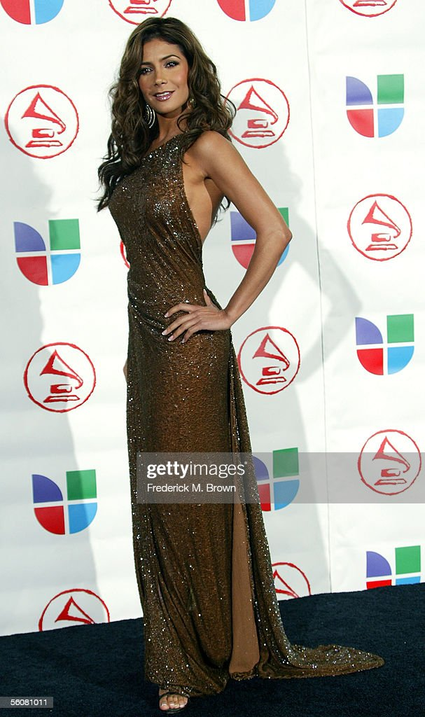 Presenter Patricia Manterola poses in the press room at the 6th Annual Latin Grammy Awards at the Shrine Auditorium on November 3, 2005 in Los Angeles, California.