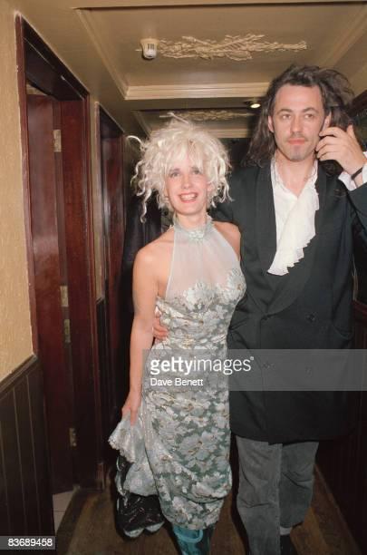 TV presenter Paula Yates with her husband Bob Geldof 1991