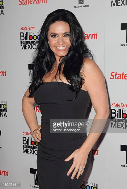 Presenter Penelope Menchaca arrives for the 2011 Billboard Mexican Music Awards at Orpheum Theatre on October 20 2011 in Los Angeles California