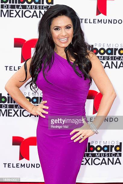 TV presenter Penelope Menchaca attends the 2013 Billboard Mexican Music Awards arrivals at Dolby Theatre on October 9 2013 in Hollywood California