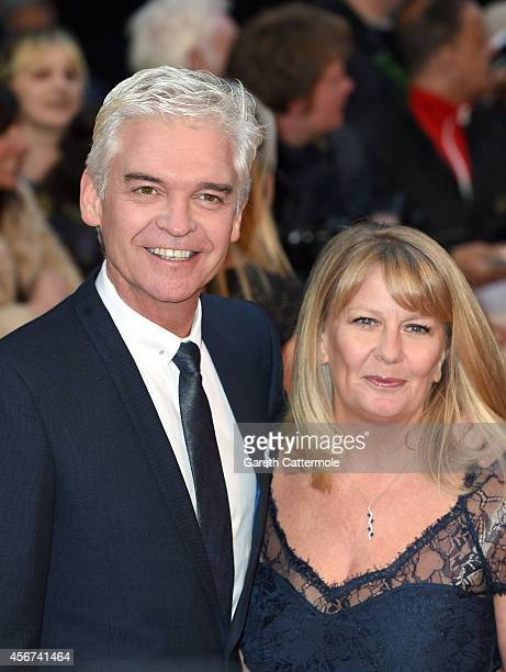Presenter Phillip Schofield and his wife Stephanie Lowe attend the Pride of Britain awards at The Grosvenor House Hotel on October 6 2014 in London...